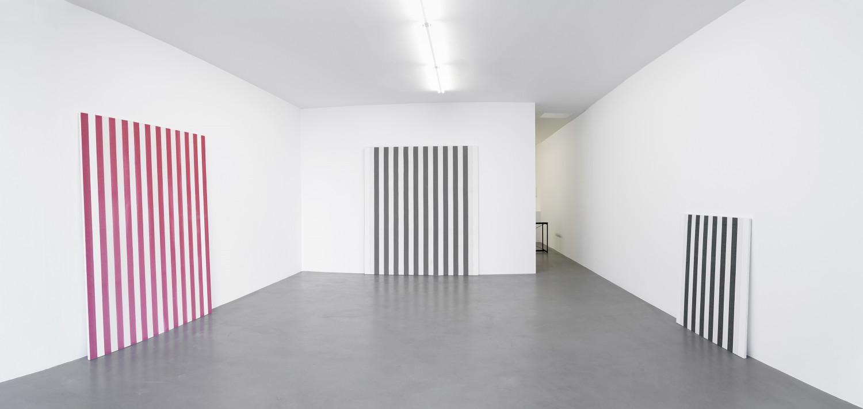 Daniel Buren, 'Peintures 1966 - 1969, Travaux Situés 2016', Installation view, Buchmann Box, 2016