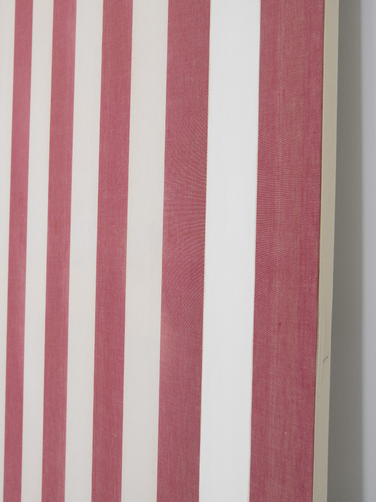 Daniel Buren, 'Peinture acrylique blanche sur tissu rayé blanc et rouge (detail)', 1969