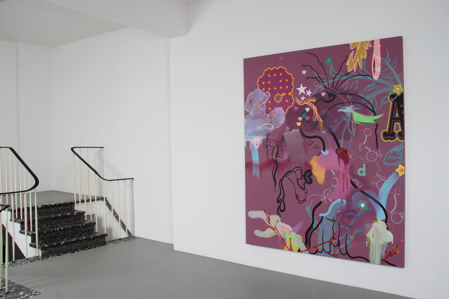 Fiona Rae, 'Grotto', Installation view, 2005