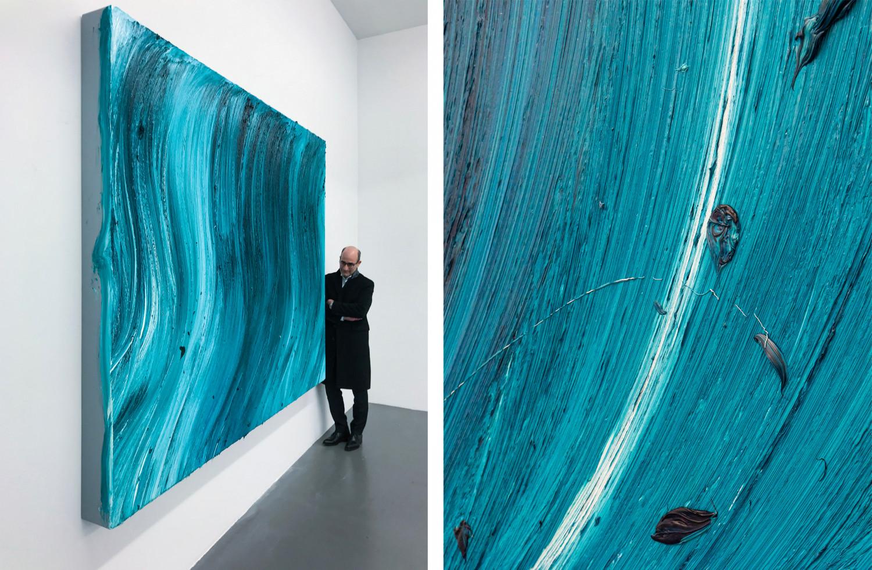 Jason Martin, 'Untitled (Caribbean blue / Heliogen green) (detail)', 2020