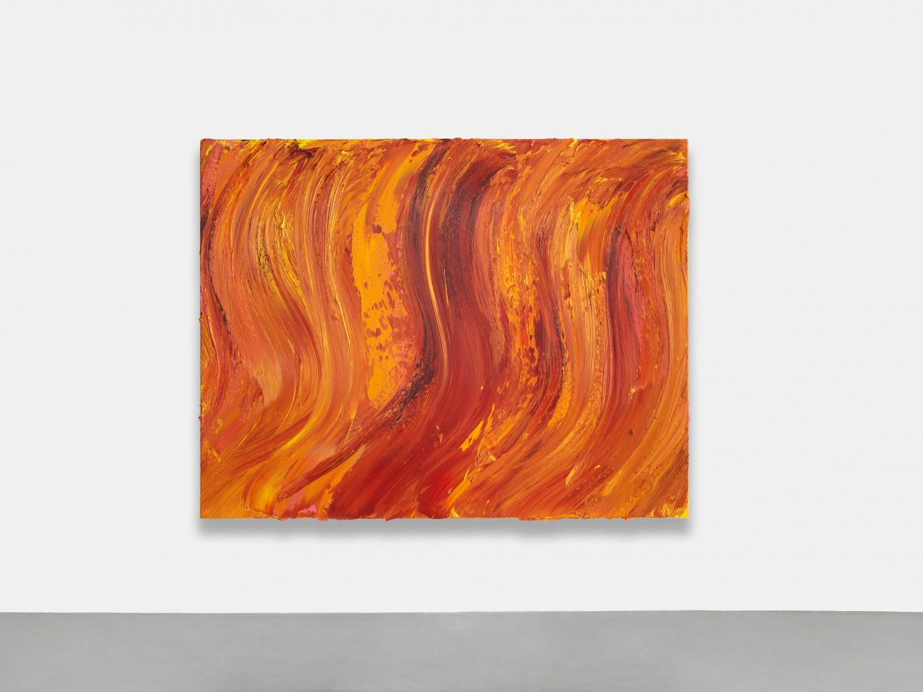 Jason Martin, 'Untitled (Old Holland gold lake / Permanent yellow light / Scarlet lake extra)', 2020
