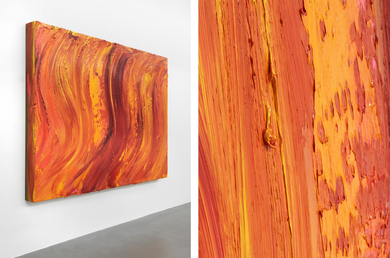 Jason Martin, 'Untitled (Old Holland gold lake / Permanent yellow light / Scarlet lake extra) (detail)', 2020