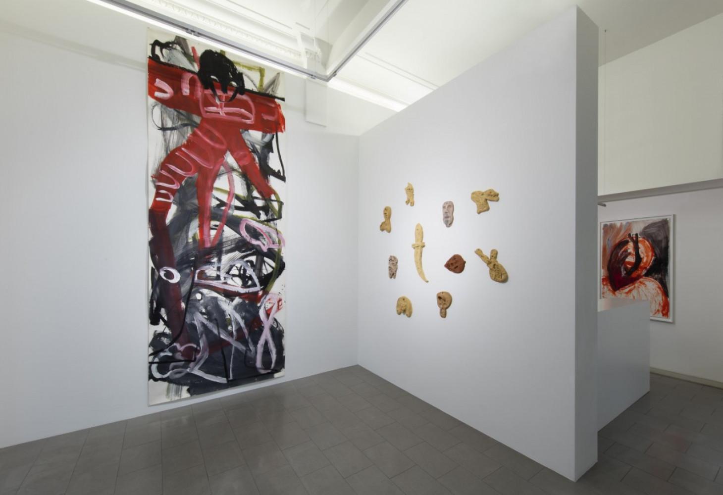 Martin Disler, Installation view, Buchmann Lugano / Via della Posta, 2019