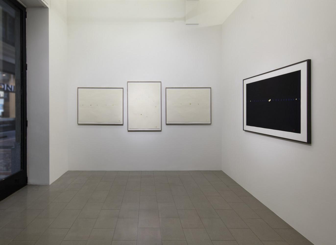 Tatsuo Miyajima, 'Opere su carta 1995-2018', Installation view, Buchmann Lugano / Via della Posta, 2019