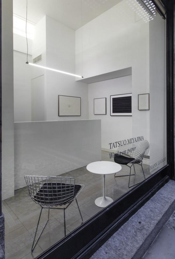 Tatsuo Miyajima, 'Opere su carta 1995-2018', Installation view, 2019