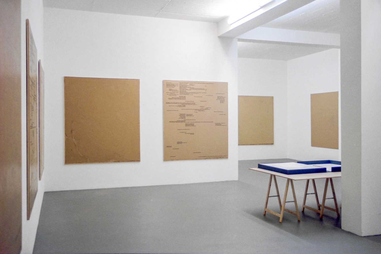 'Remy Zaugg', Installation view, 1998