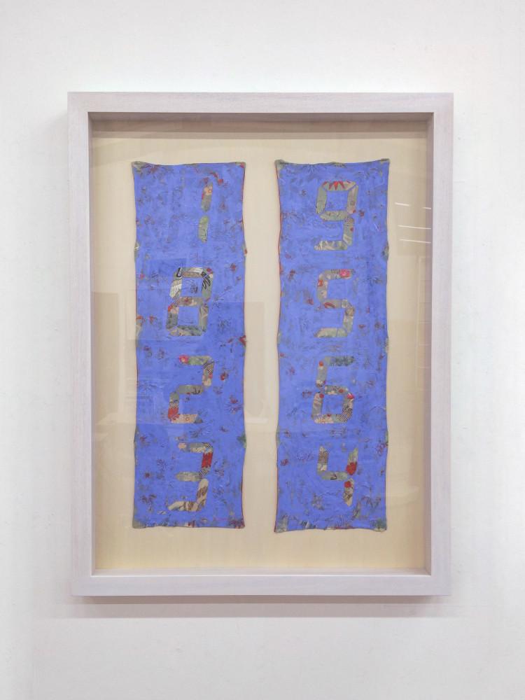 Tatsuo Miyajima, 'Counter Painting on Kimono Sode - Blue Violet', 2013