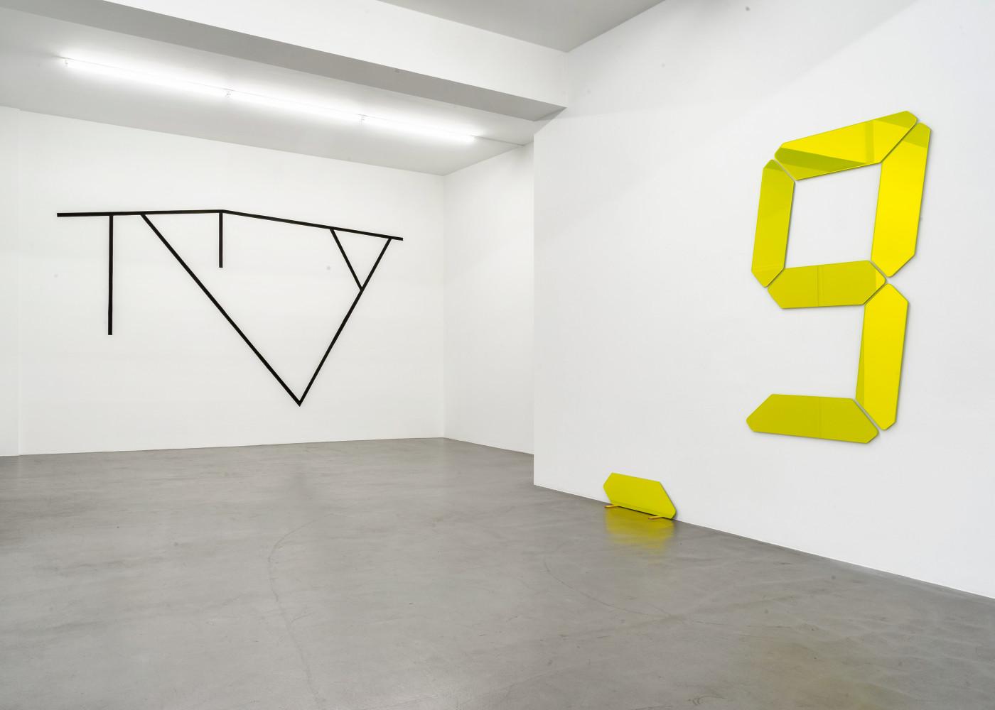 Tatsuo Miyajima, William Tucker, 'CUTOFF – Tony Cragg, Tatsuo Miyajima, Bettina Pousttchi, William Tucker', Installation view, Buchmann Galerie, 2020