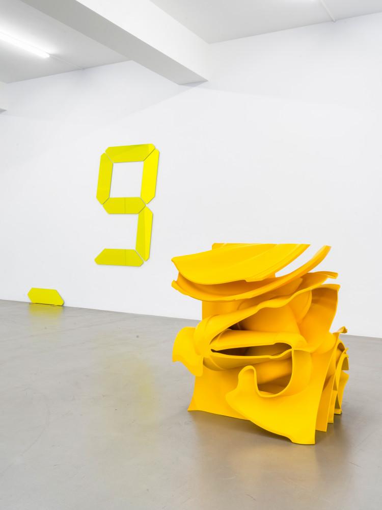 Tony Cragg, Tatsuo Miyajima, 'CUTOFF – Tony Cragg, Tatsuo Miyajima, Bettina Pousttchi, William Tucker', Installation view, Buchmann Galerie, 2020