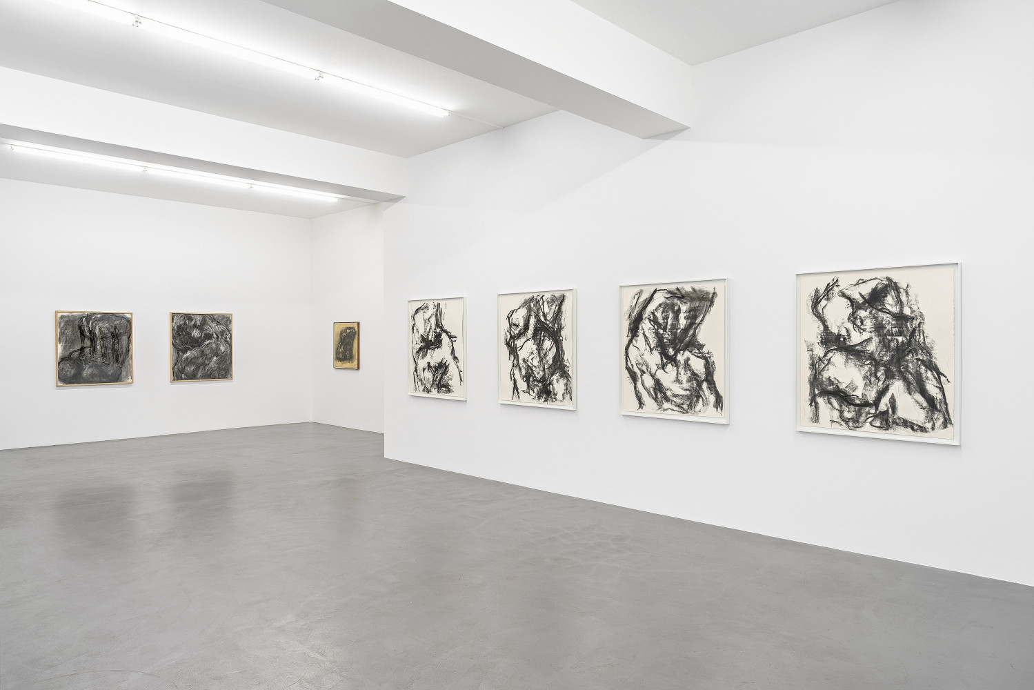 William Tucker, 'William Tucker - Charcoal Drawings', Installation view, Buchmann Galerie, 2017