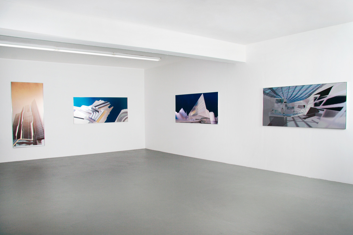 Zaha Hadid, 'Silver paintings', Installation view, 2005