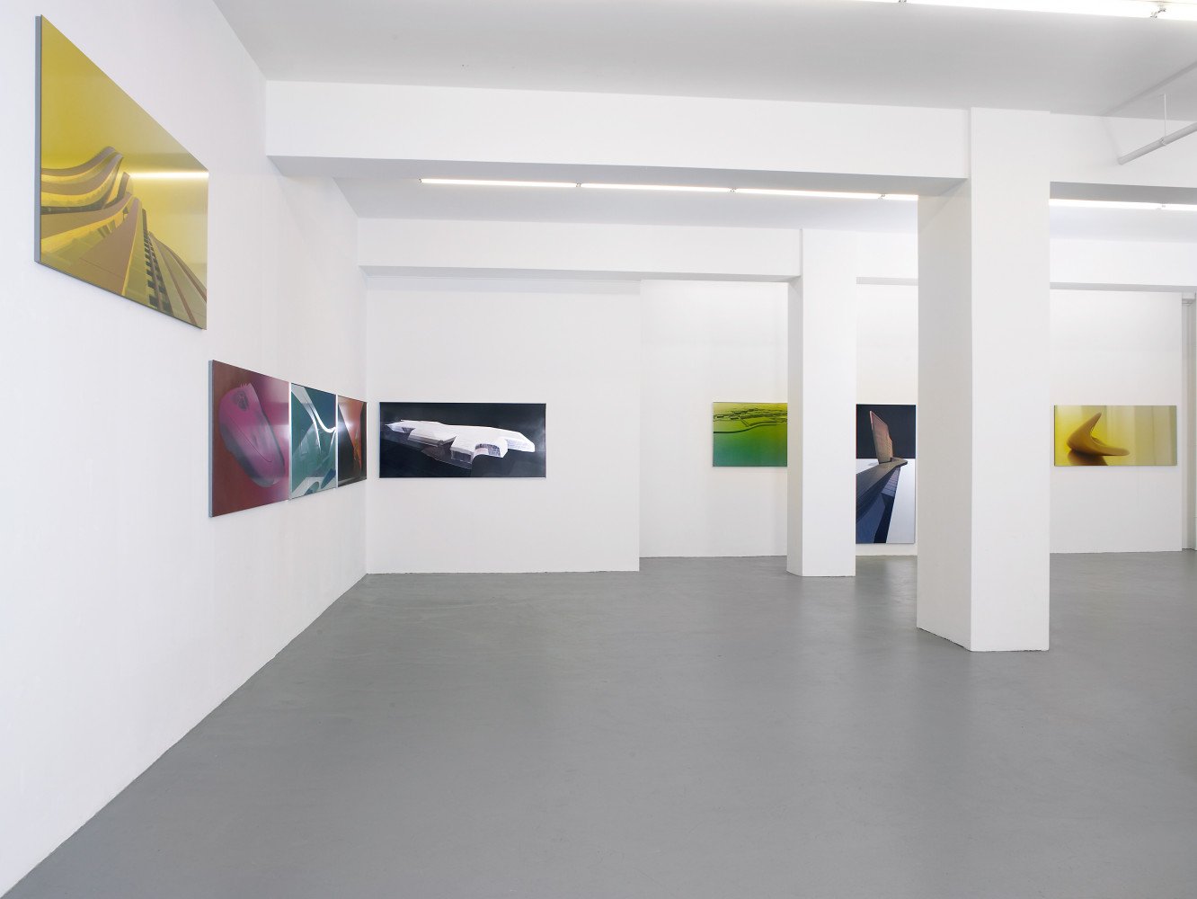 Zaha Hadid, 'Silver Paintings', Installation view, Buchmann Galerie, 2007